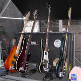My bass guitar rack