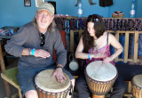 rg-and-gillian-trying-out-djembes