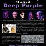 Art and History: 50 Years of Deep Purple exhibition